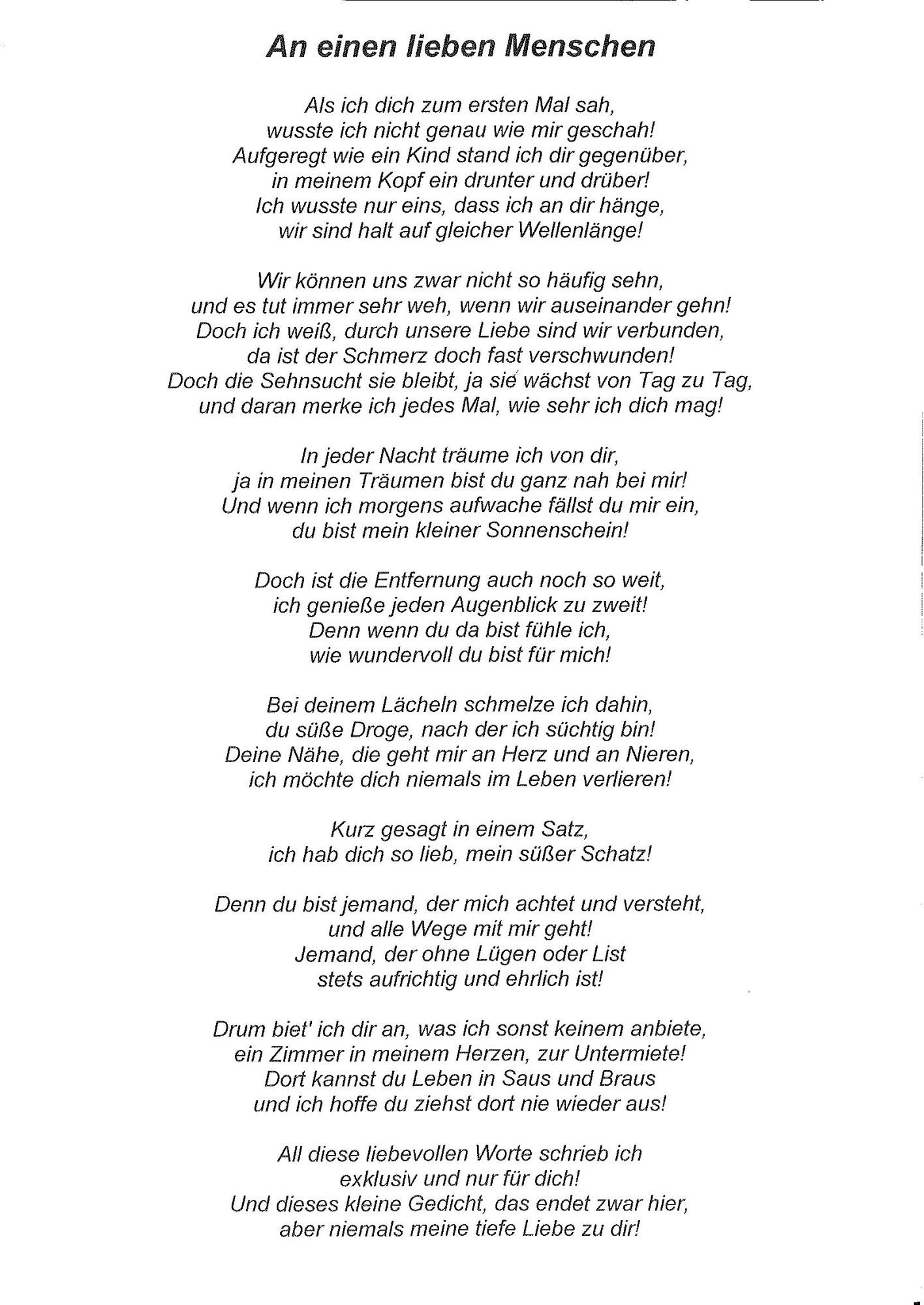 Es tut weh dich zu lieben gedichte